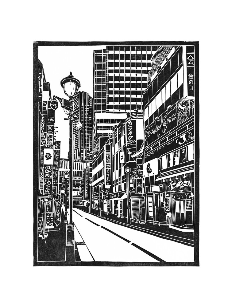 Tokyo - Shibuya - fotokunst von Bianca Green