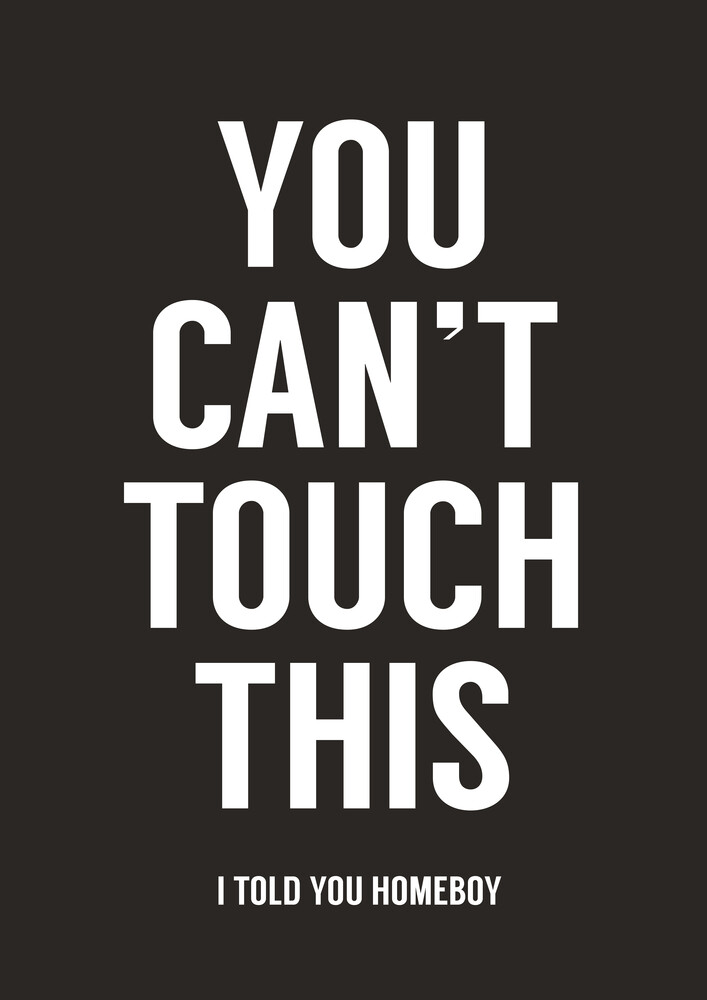 You can't touch this (black) - fotokunst von Balazs Solti