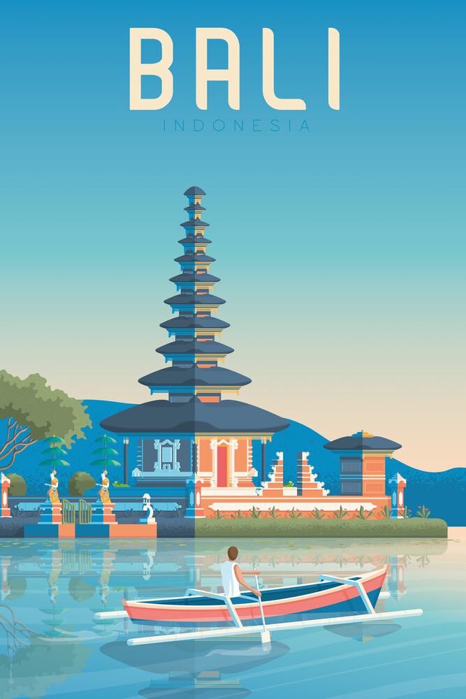 Bali Vintage Travel Wandbild - fotokunst von François Beutier