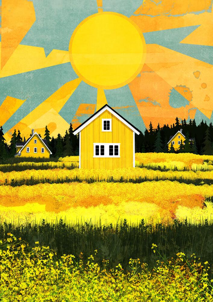 Yellow Lands - fotokunst von Katherine Blower
