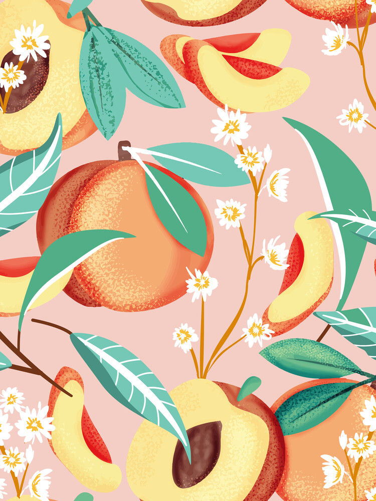 Peach Season - fotokunst von Uma Gokhale