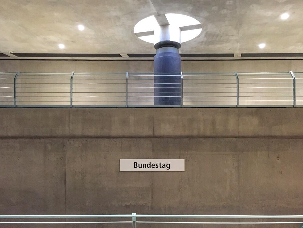 U-Bahnhof Bundestag - fotokunst von Claudio Galamini
