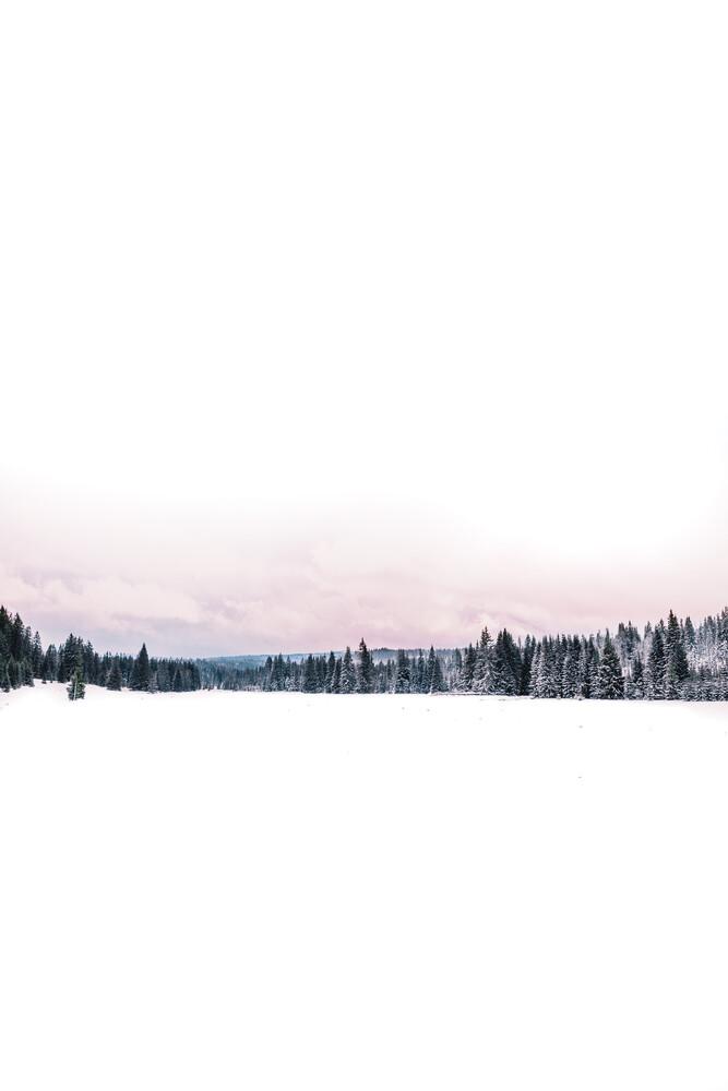 Winterliches Tal in Modrava, Tschechische Republik - fotokunst von Florian Eichinger