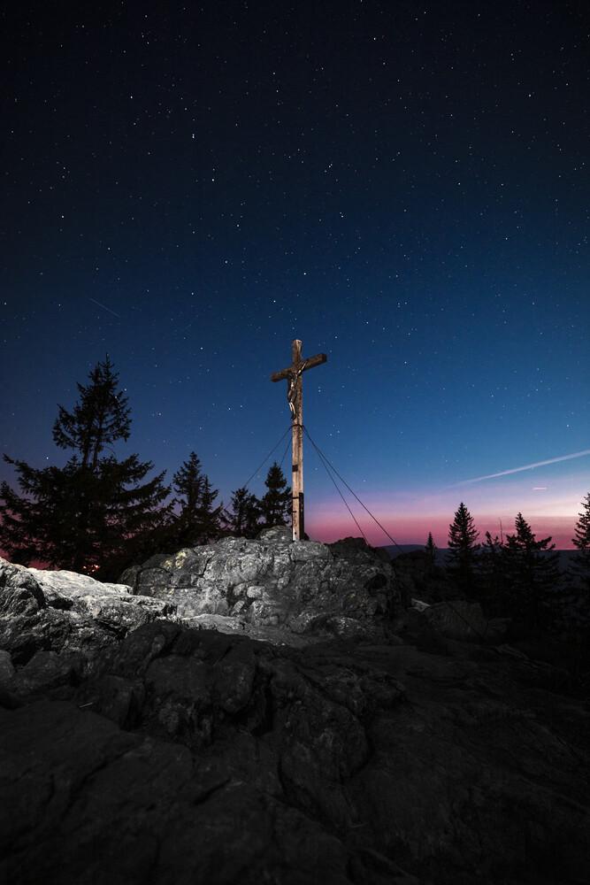 Morgenrot am Gipfelkreuz - fotokunst von Florian Eichinger