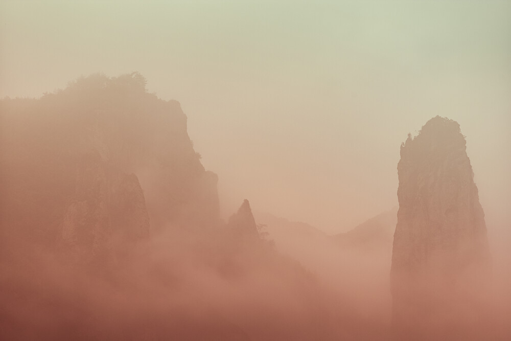Misty Mountain Hop - Fineart photography by AJ Schokora