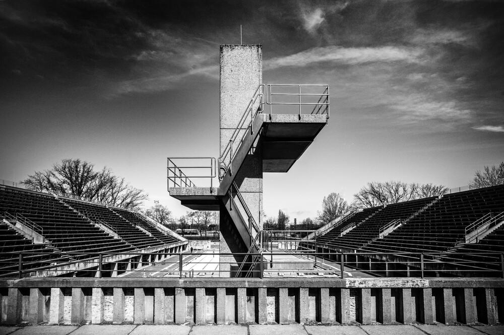 Olympia Sprungturm - fotokunst von Joachim Wagner