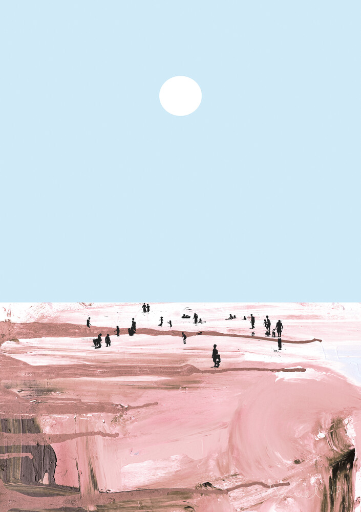 Beach People - Fineart photography by Dan Hobday