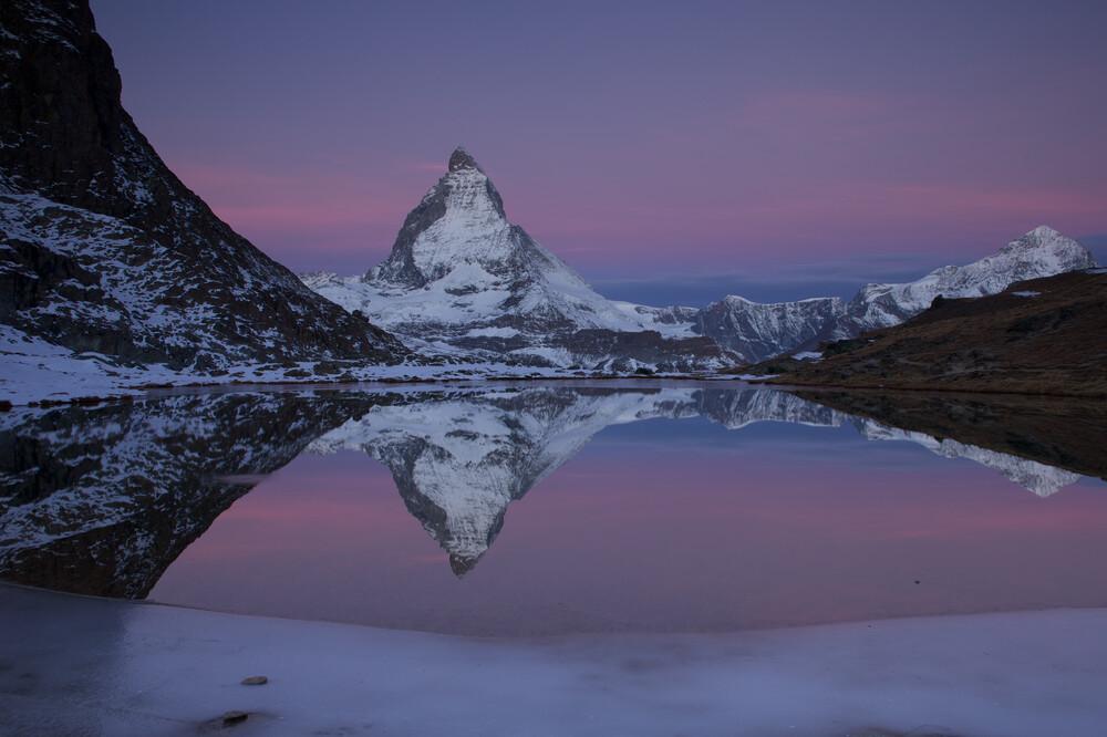 Morgendämmerung am Matterhorn   Fotokunst von Stefan Blawath