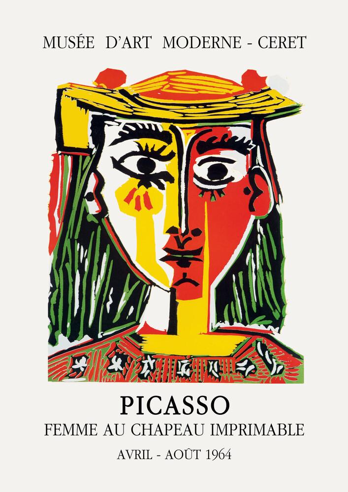 Picasso - FEMME AU CHAPEAU IMPRIMABLE - Fineart photography by Art Classics