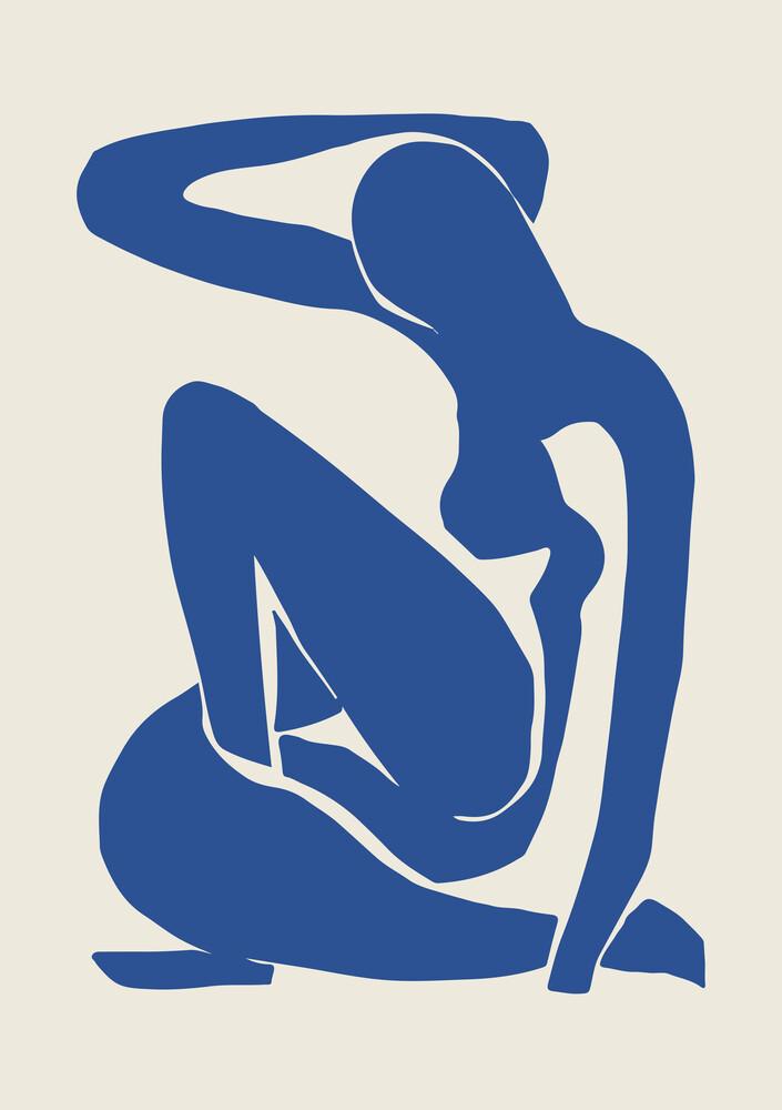 Matisse – Woman in Blau - fotokunst von Art Classics