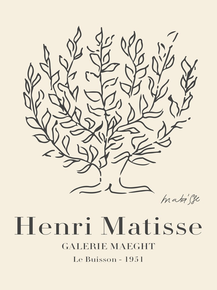 Matisse - Le Buisson - Fineart photography by Art Classics