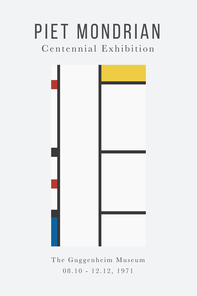 Piet Mondrian – Centennial Exhibition - Fineart photography by Art Classics