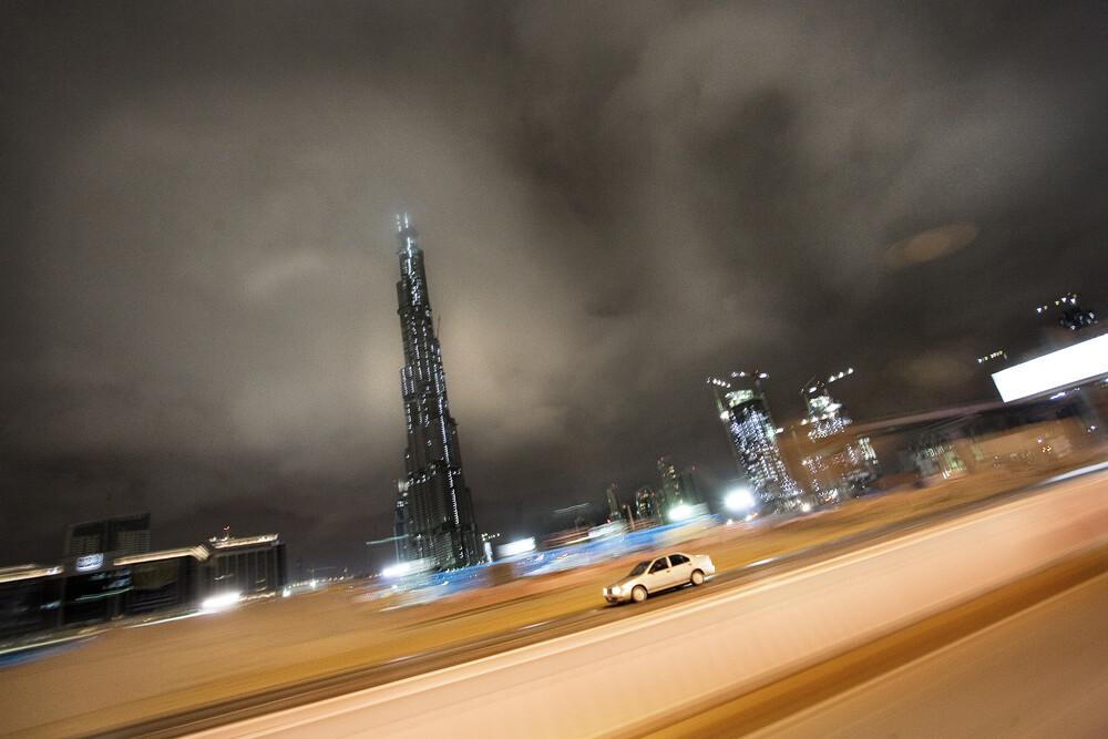 Burj at night - Fineart photography by Florian Büttner