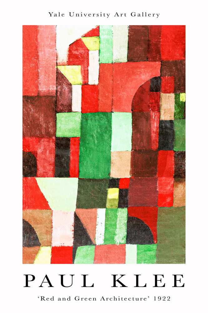 Red and Green Architecture von Paul Klee - Fineart photography by Art Classics