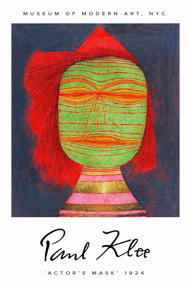 Actor's Mask by Paul Klee - Fineart photography by Art Classics