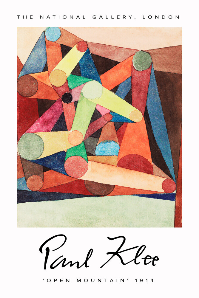 Open Mountain by Paul Klee - Fineart photography by Art Classics