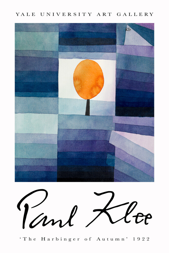 The Harbinger of Autumn by Paul Klee - Fineart photography by Art Classics