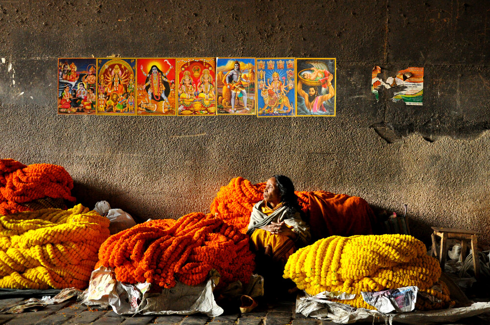 Flower Market - Fineart photography by Sankar Sarkar