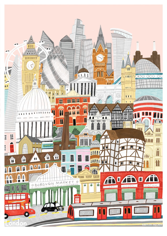 London Map - Fineart photography by Kaitlin Mechan