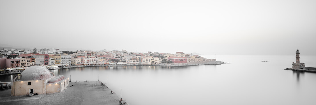 Panorama port city Chania - Fineart photography by Dennis Wehrmann