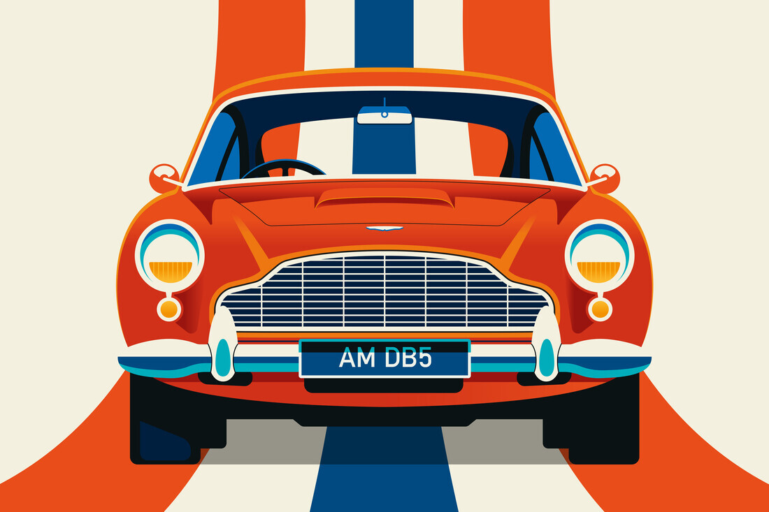 Vintage Sports Car Red and Blue - Fineart photography by Bo Lundberg