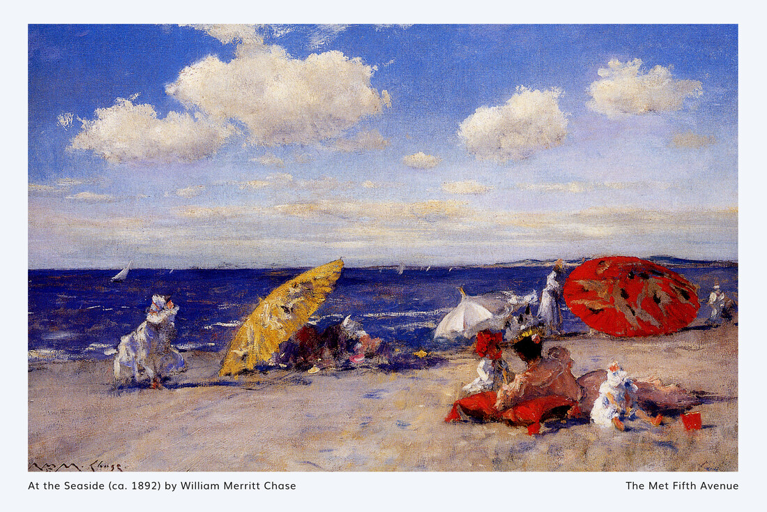 William Merritt Chase: At the seaside - exhibition poster - Fineart photography by Art Classics