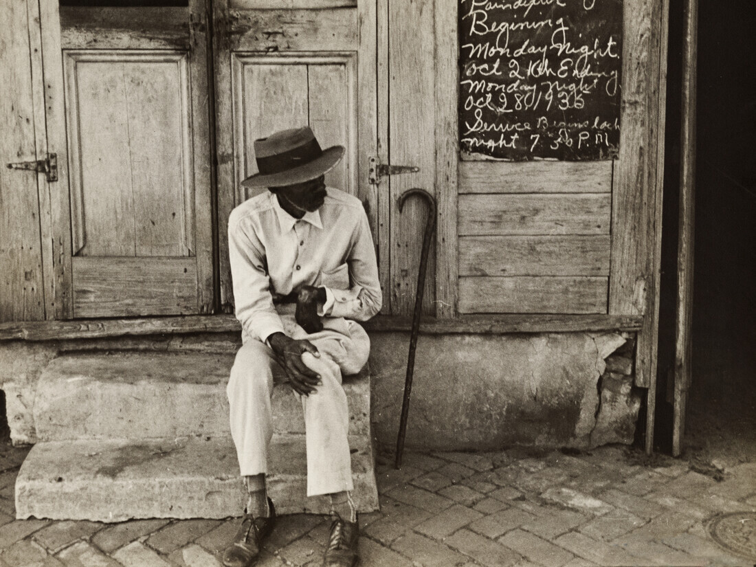 Ben Shahn: Street scene in New Orleans - Fineart photography by Vintage Collection