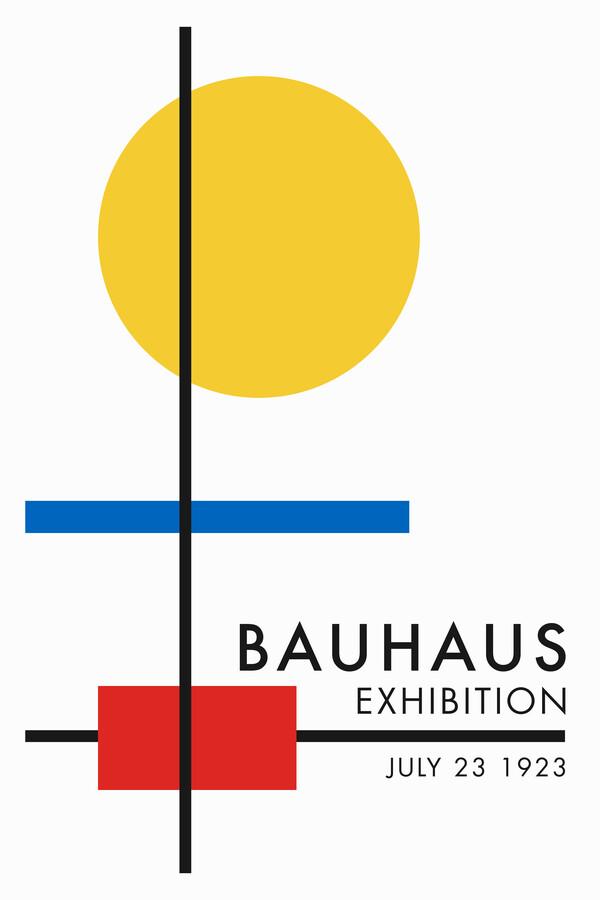 Bauhaus Ausstellungsposter (weiß, gelb, blau, rot) - fotokunst von Bauhaus Collection