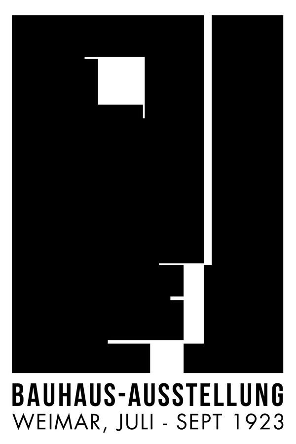Bauhaus-Ausstellung (schwarzweiß) - fotokunst von Bauhaus Collection