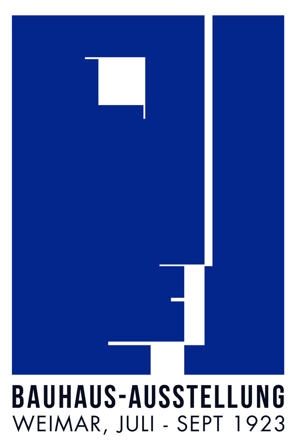 Bauhaus Ausstellungsposter von 1923 - fotokunst von Bauhaus Collection