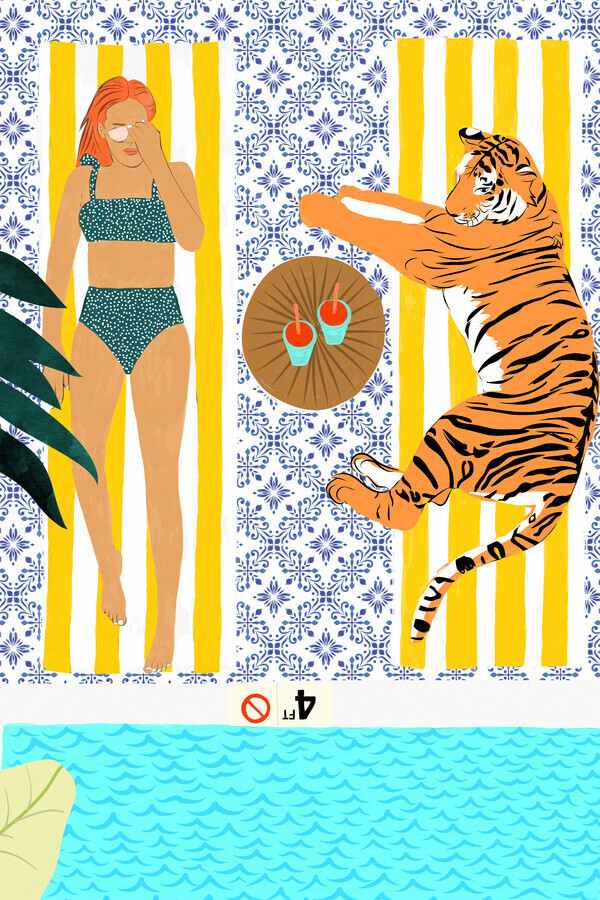 How To Vacay With Your Tiger - fotokunst von Uma Gokhale