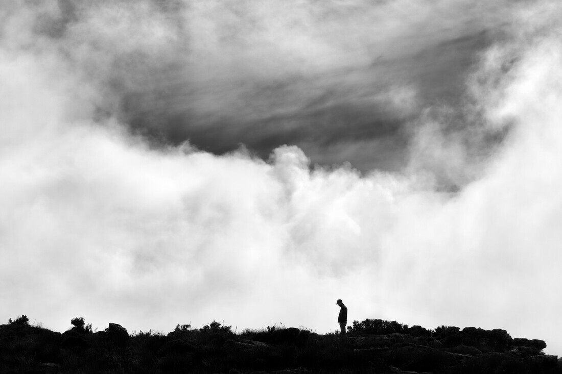 Alone on Table Mountain - Fineart photography by Victoria Knobloch