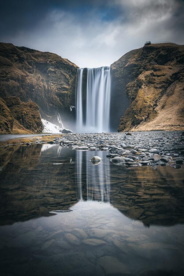 Island Stkokksnes Wasserfall - fotokunst von Jean Claude Castor