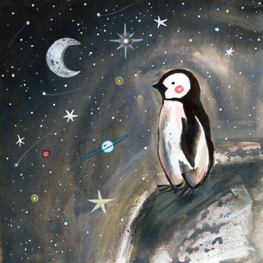 Penguin and moon - Fineart photography by Marta Casals Juanola