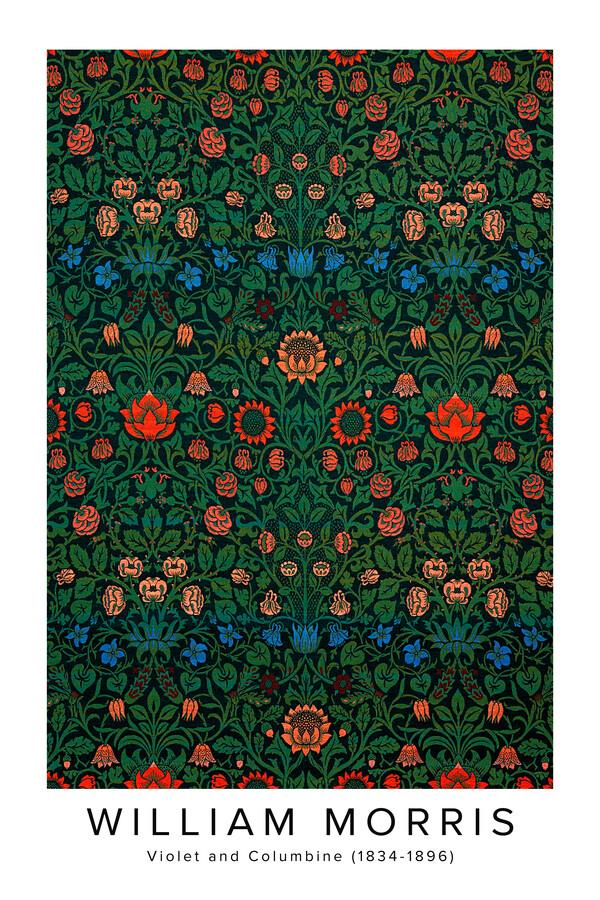 William Morris: Violett und Akelei - Ausstellungsposter - fotokunst von Art Classics
