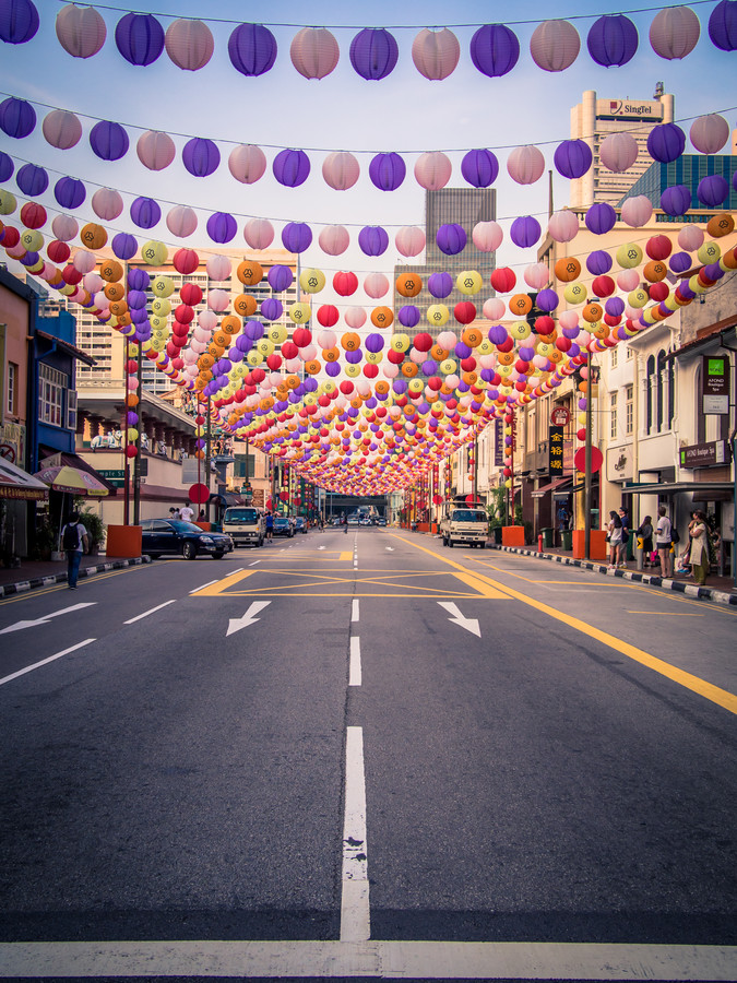 Singapore - China Town - fotokunst von Johann Oswald