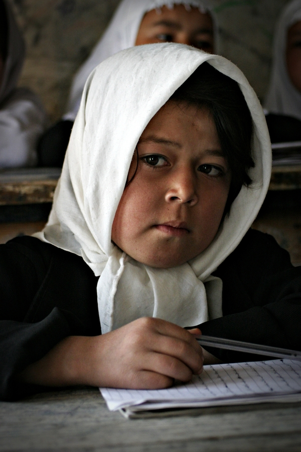 Girl at School - fotokunst von Rada Akbar