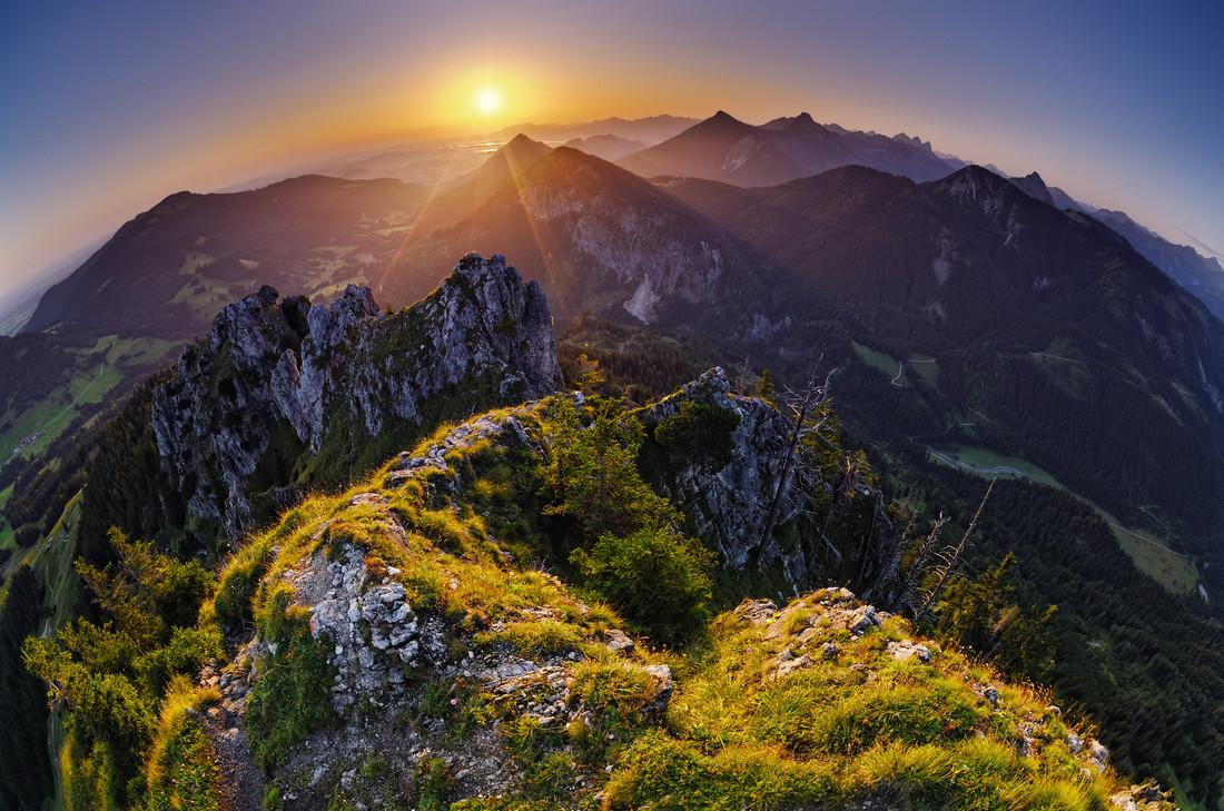 Sorgschrofen Sunrise - fotokunst von Immanuel Rapp