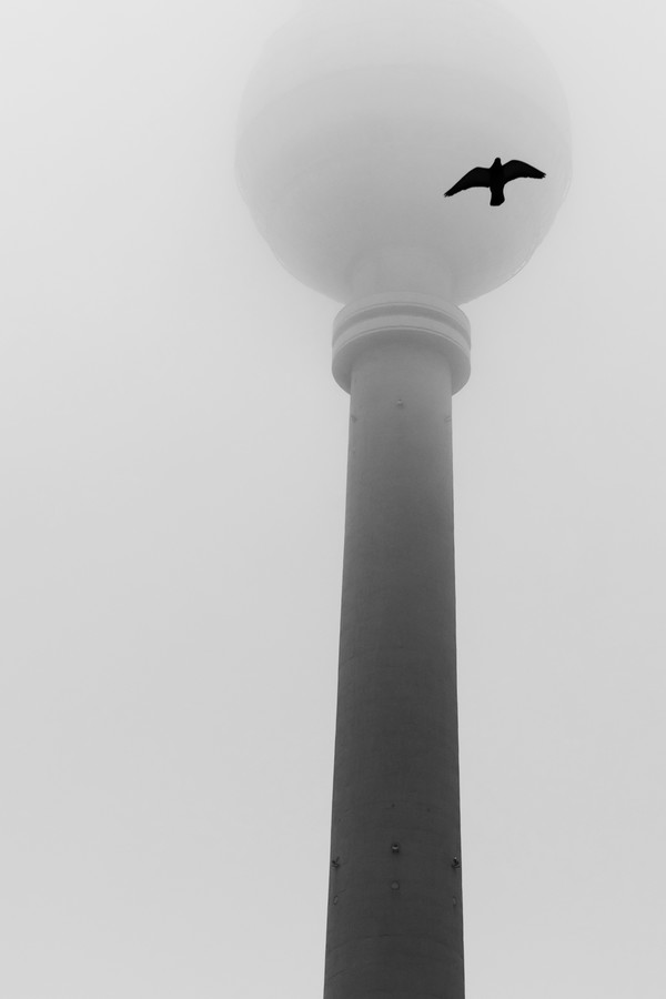 Berlin TV Tower in the fog - Fineart photography by Nadja Jacke