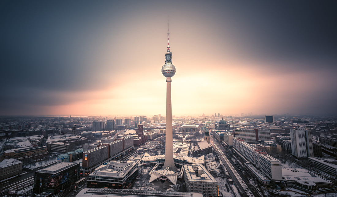 Berlin - TV Tower Spotlight I - Fineart photography by Jean Claude Castor