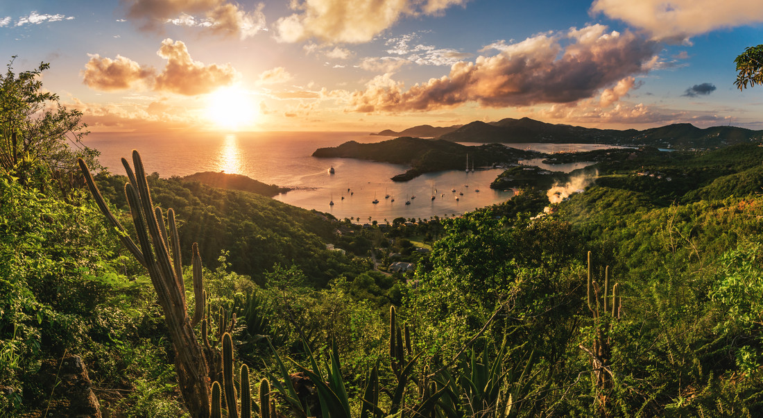 Antigua - English Harbour Sunset - fotokunst von Jean Claude Castor