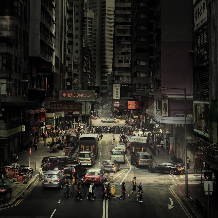 Crossing Hong Kong - Fineart photography by Rob van Kessel
