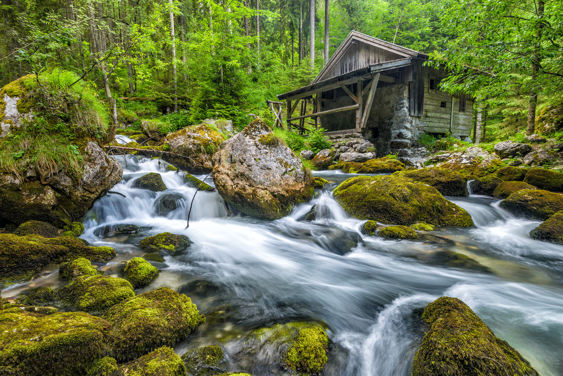 Old Mill - fotokunst von Günther Reissner