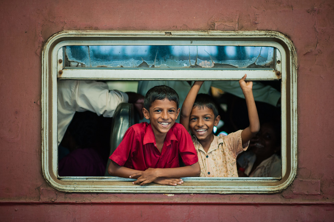 Happy in the train - Fineart photography by Johannes Christoph Elze