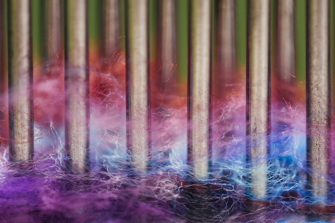 Wool threads color patterns - Fineart photography by Nadja Jacke