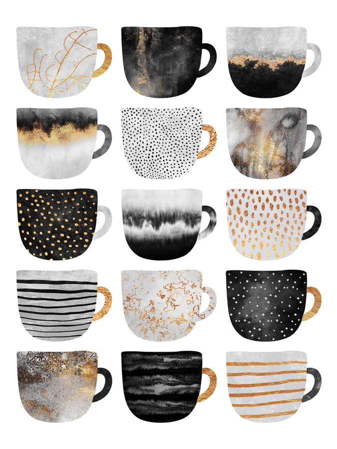 Pretty Coffee Cups 3 - Fineart photography by Elisabeth Fredriksson