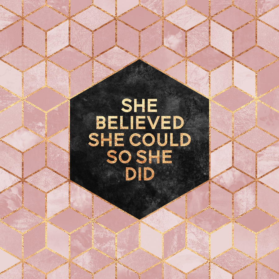 She Believed She Could - fotokunst von Elisabeth Fredriksson