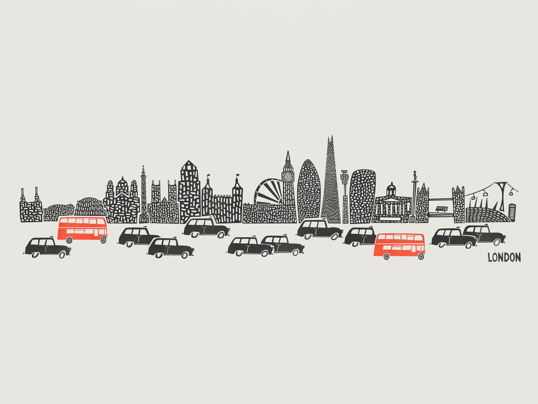 London Skyline - fotokunst von Fox And Velvet