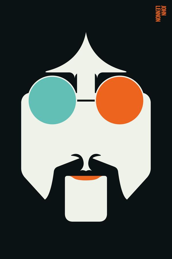 Premium-Poster John Lennon Bo Lundberg