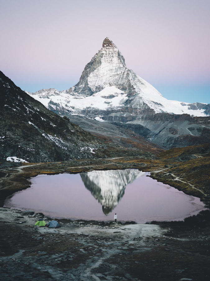 Pre-sunrise at the Matterhorn - fotokunst von Leo Thomas